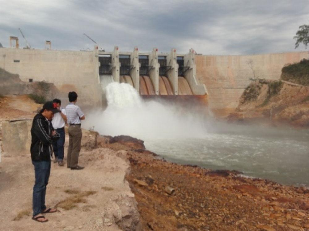 Survey at hydropower plant Theun Hinboun