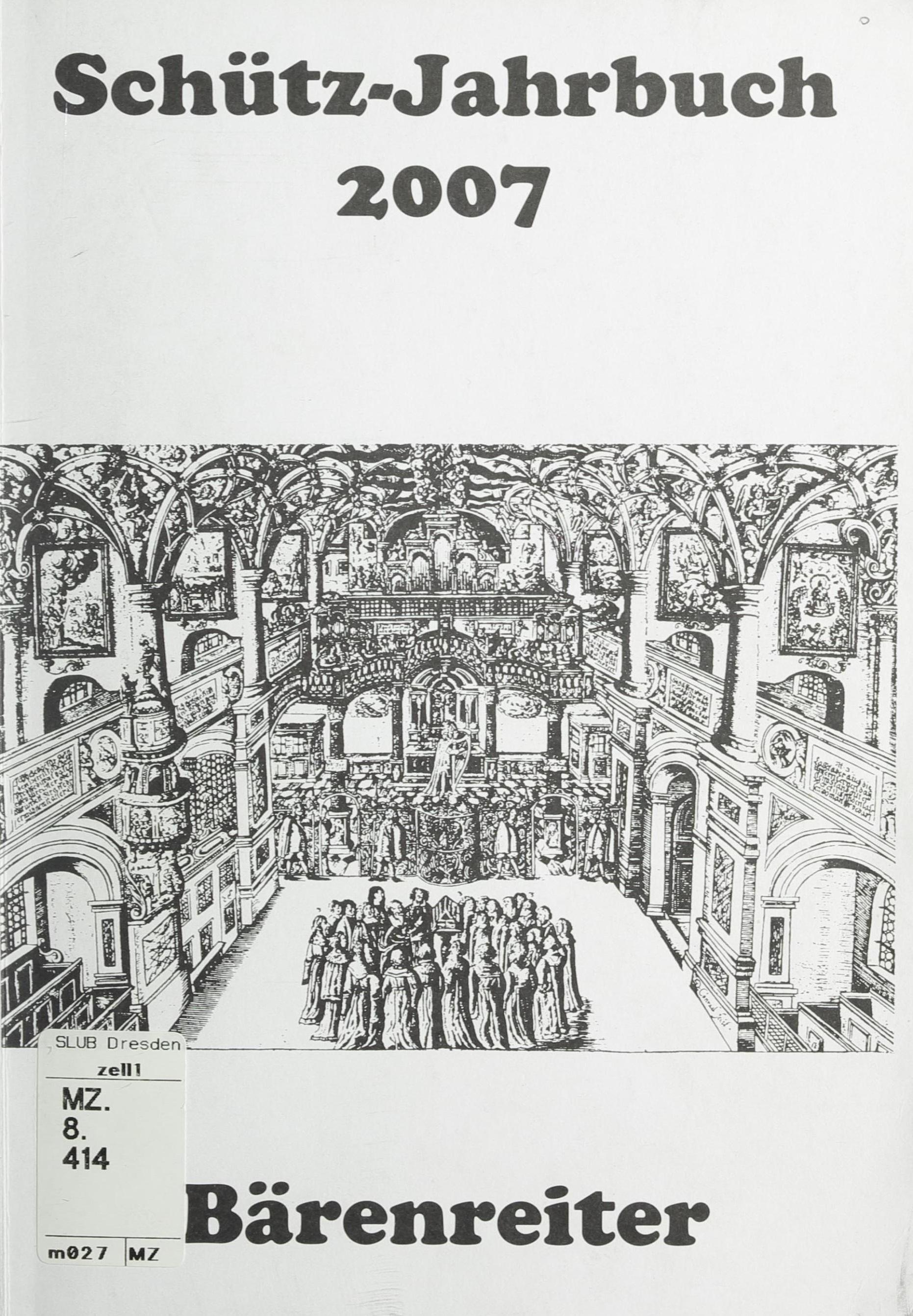 Bd 29 2007 Schutz Jahrbuch