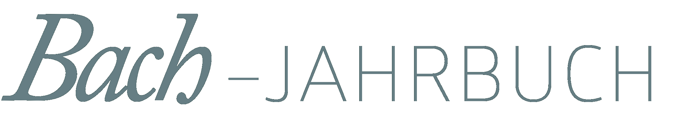 Logo: Bach Jahrbuch
